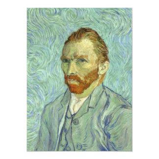 Vincent Van Gogh Self Portrait Fine Art Painting 14 Cm X 19 Cm Invitation Card