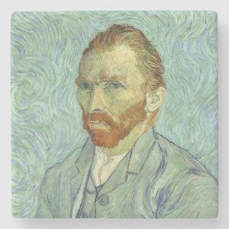 Vincent Van Gogh Self Portrait Fine Art Painting Stone Coaster