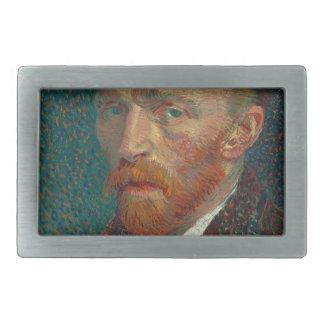 Vincent Van Gogh - Self Portrait Painting Rectangular Belt Buckles