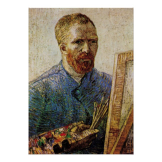 Vincent van Gogh Self Portrait, Post Impressionism Poster