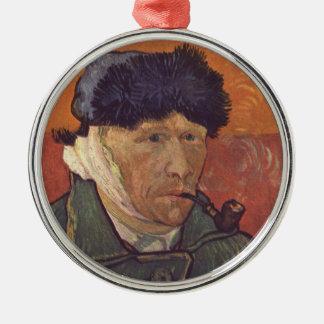 Vincent Van Gogh  -Self Portrait with Bandaged Ear Christmas Ornament