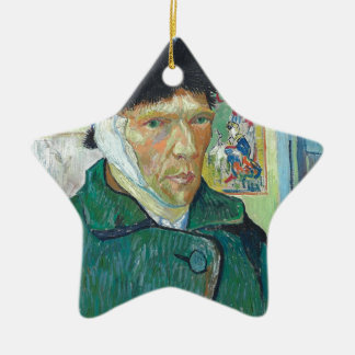 Vincent Van Gogh Self Portrait with Bandaged Ear Christmas Ornament