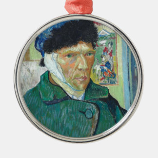 Vincent Van Gogh Self Portrait with Bandaged Ear Christmas Ornament