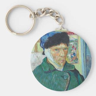 Vincent Van Gogh Self Portrait with Bandaged Ear Key Ring