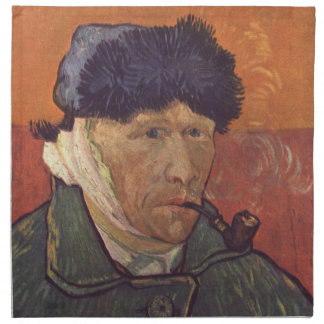 Vincent Van Gogh  -Self Portrait with Bandaged Ear Napkin