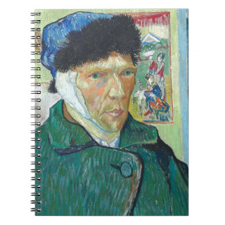 Vincent Van Gogh Self Portrait with Bandaged Ear Spiral Notebook