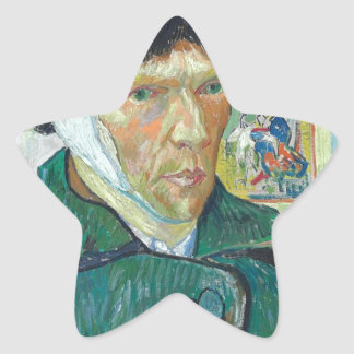Vincent Van Gogh Self Portrait with Bandaged Ear Star Sticker