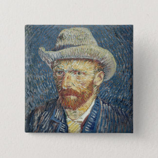 Vincent van Gogh | Self Portrait with Felt Hat 15 Cm Square Badge