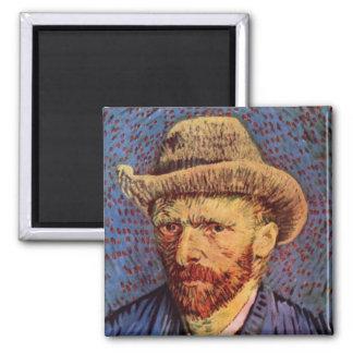 Vincent van Gogh - Self-Portrait with Felt Hat Magnet