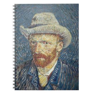 Vincent van Gogh | Self Portrait with Felt Hat Notebooks