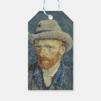 Vincent Van Gogh Self Portrait with Grey Felt Hat Gift Tags