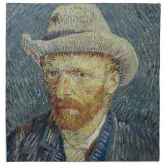 Vincent Van Gogh Self Portrait with Grey Felt Hat Napkin
