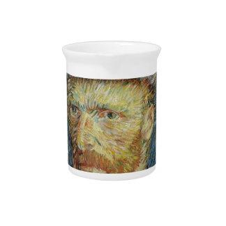 Vincent Van Gogh Self Portrait with Grey Felt Hat Pitcher