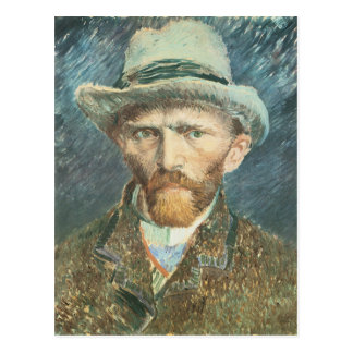 Vincent Van Gogh Self Portrait with Grey Felt Hat Postcard