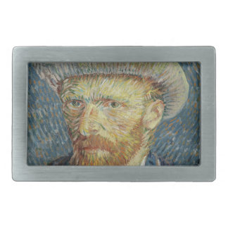 Vincent Van Gogh Self Portrait with Grey Felt Hat Rectangular Belt Buckle