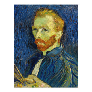 Vincent Van Gogh Self Portrait With Palette 21.5 Cm X 28 Cm Flyer