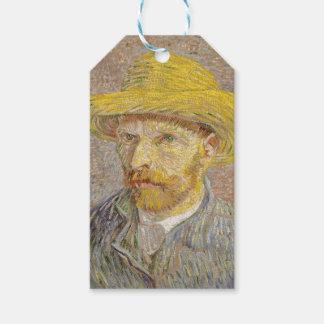 Vincent Van Gogh Self Portrait with Straw Hat Art