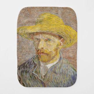 Vincent Van Gogh Self Portrait with Straw Hat Art Burp Cloth