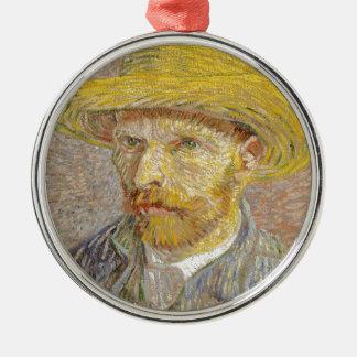 Vincent Van Gogh Self Portrait with Straw Hat Art Christmas Ornament