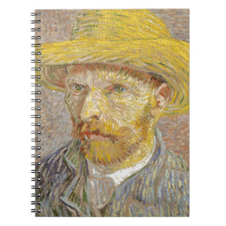 Vincent Van Gogh Self Portrait with Straw Hat Art Notebooks