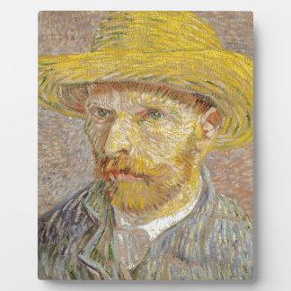 Vincent Van Gogh Self Portrait with Straw Hat Art Photo Plaque