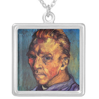 Vincent Van Gogh - Self Portrait Without Beard Silver Plated Necklace