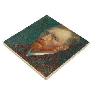Vincent Van Gogh Self-Portrait Wood Coaster
