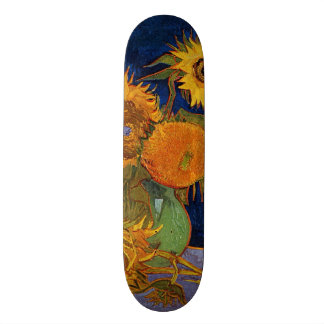 Vincent van Gogh Six Sunflowers GalleryHD Fine Art Skateboard Deck