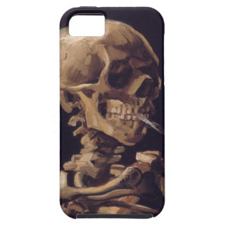 Vincent Van Gogh Skull with a Burning Cigarette iPhone 5 Covers