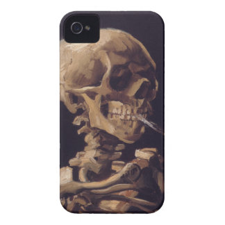 Vincent Van Gogh Skull with a Burning Cigarette iPhone 4 Covers