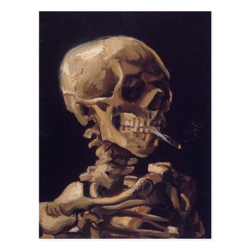 Vincent Van Gogh Skull with a Burning Cigarette Postcards