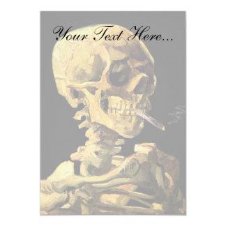 Vincent Van Gogh - Skull With Burning Cigarette 13 Cm X 18 Cm Invitation Card