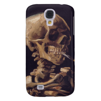 Vincent Van Gogh - Skull with Burning Cigarette Samsung Galaxy S4 Covers