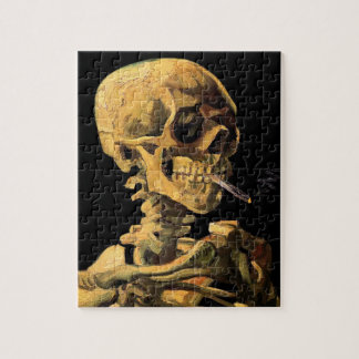Vincent Van Gogh - Skull With Burning Cigarette Jigsaw Puzzle