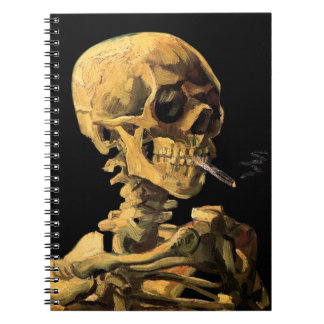 Vincent Van Gogh - Skull With Burning Cigarette Notebook