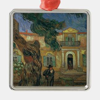 Vincent van Gogh | St. Paul's Hospital, St Remy Silver-Colored Square Decoration