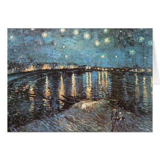 Vincent Van Gogh - Starlight Over the Rhone Card