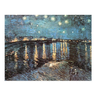 Vincent Van Gogh - Starlight Over the Rhone Postcards
