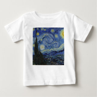 Vincent Van Gogh - Starry Night. Art Painting Baby T-Shirt