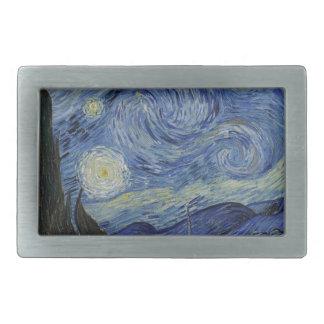 Vincent Van Gogh - Starry Night. Art Painting Belt Buckles