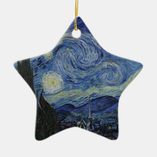 Vincent Van Gogh - Starry Night. Art Painting Ceramic Star Decoration