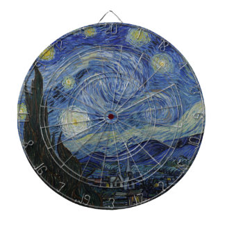 Vincent Van Gogh - Starry Night. Art Painting Dart Boards