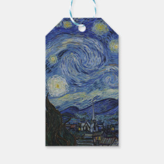 Vincent Van Gogh - Starry Night. Art Painting Gift Tags