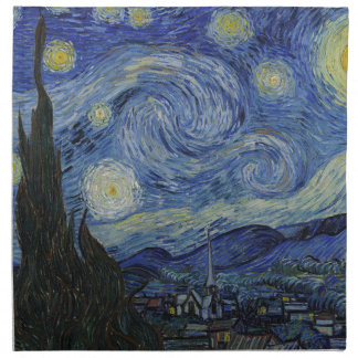 Vincent Van Gogh - Starry Night. Art Painting Napkin