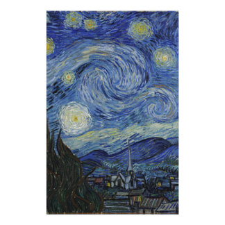 Vincent Van Gogh - Starry Night. Art Painting Personalized Stationery