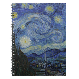 Vincent Van Gogh - Starry Night. Art Painting Spiral Note Book