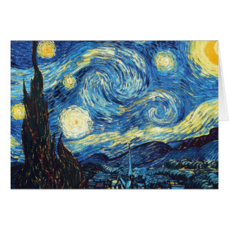 Vincent Van Gogh - Starry Night Card