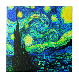 Vincent Van Gogh Starry Night Enhanced Tile