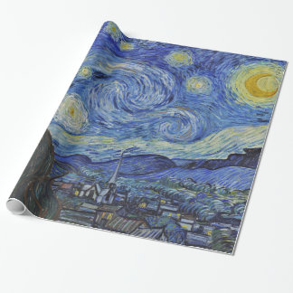 Vincent van Gogh Starry Night GalleryHD Fine Art Wrapping Paper