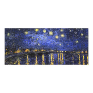 Vincent Van Gogh Starry Night Over The Rhone 10 Cm X 24 Cm Invitation Card